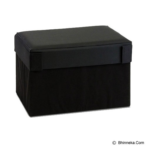 FUNIKA Cube Rectangular Prism Storage Stool [10061R1] - Black - Container
